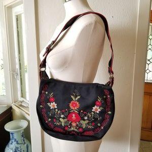 Handbags - Vintage Boho Mori Embroidered European Flower Bag